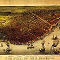 Antique Map Of New Orleans by Celestial Images