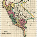 Antique Map Of Peru By Henry Charles Carey - 1822 by Blue Monocle