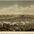 Antique Map Of Pittsburgh Pennsylvania By Otto Krebs - 1874 by Blue Monocle
