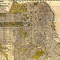 Antique Map Of San Francisco 1932 by Mountain Dreams
