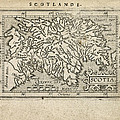 Antique Map Of Scotland By Abraham Ortelius - 1603 by Blue Monocle