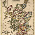 Antique Map Of Scotland By Fielding Lucas - Circa 1817 by Blue Monocle
