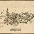 Antique Map Of Tennessee By Fielding Lucas - Circa 1817 by Blue Monocle