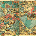 Antique Map Of The Baltic And North Sea Ports  by Mountain Dreams