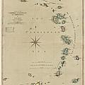 Antique Map Of The Caribbean - Lesser Antilles - By Mathew Richmond - 1789 by Blue Monocle