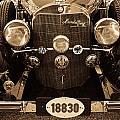 Antique Mercedes Benz In Sepia by Douglas Barnett
