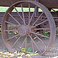 Antique Metal Wheel by Mary Deal
