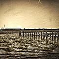 Antique Photo Of Pier  by Susan Leggett