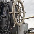 Antique Ship Steering Wheel by Jit Lim