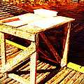 Antique Splitting Table by Barbara Griffin