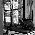 Antique Stove On Porch by Bonnie Bruno