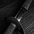 Antique Sword Black And White by Edward Fielding