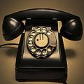 Antique Telephone by Diane Diederich