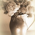 Antique Vase And Roses by Diana Besser