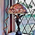 Antique Victorian Lamp At The Boardwalk Plaza - Rehoboth Beach Delaware by Kim Bemis