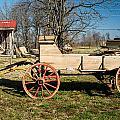 Antique Wagon And Mountain Cabin 1 by Douglas Barnett