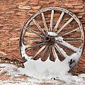 Antique Wagon Wheel by Joe Belanger