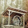 Antique Wagon Wheel by Tina Wentworth