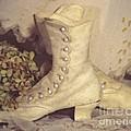 Antique Wedding Shoes by Susan  Lipschutz