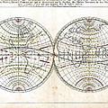 Antique World Map Harmonie Ou Correspondance Du Globe 1659 by Karon Melillo DeVega