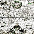 Antique World Map Poster by Dan Sproul