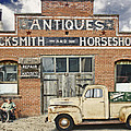 Antiques Blacksmith And Horseshoer by John Anderson