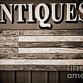 Antiques Sign by Colleen Kammerer