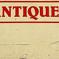 Antiques Sign by Donna Haggerty