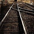 Antiquetrain On Tracks by Lane Erickson