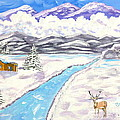 Antlers And Snow by Phyllis Kaltenbach