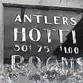 Antler's Hotel Front Door Ghost Town Victor Colorado 1971 1971-2013 by David Lee Guss