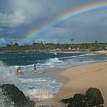 Anuenue - Aloha Mai E Hookipa Beach Maui Hawaii by Sharon Mau