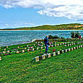 Anzak Cemetery Along The Dardenelles In Gallipolii-turkey by Ruth Hager