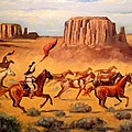 Apache Horse Hunters by Richard Nervig