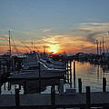 Apalachicola Marina At Sunset by Susan Wyman