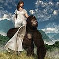 Ape And Girl by Daniel Eskridge