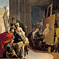 Apelles Painting The Portrait Of Campaspe by Giovanni Battista Tiepolo