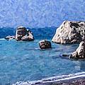 Aphrodites Rock Cyprus by Liz Leyden