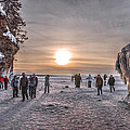 Apostle Islands Ice Cave Sunset by Shane Mossman