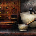 Apothecary - Pestle And Drawers by Mike Savad