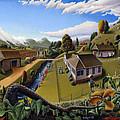 Appalachia Summer Farming Landscape - Appalachian Country Farm Life Scene - Rural Americana by Walt Curlee