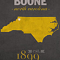 Appalachian State University Mountaineers Boone Nc College Town State Map Poster Series No 010 by Design Turnpike