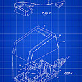 Apple Mouse Patent 1984 - Blue by Stephen Younts