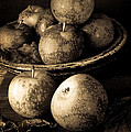 Apple Still Life Black And White by Edward Fielding