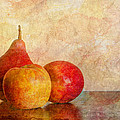Apples And A Pear II by Heidi Smith