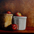 Apples And Jars by Van Bunch