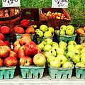 Apples At Farmer's Market by Susan Savad