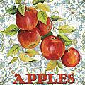 Apples On Damask by Jean Plout