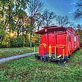 Appomattox Caboose At Sun Rise by Greg Hager