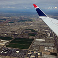 Approaching Phoenix Az Wing Tip View by Thomas Woolworth